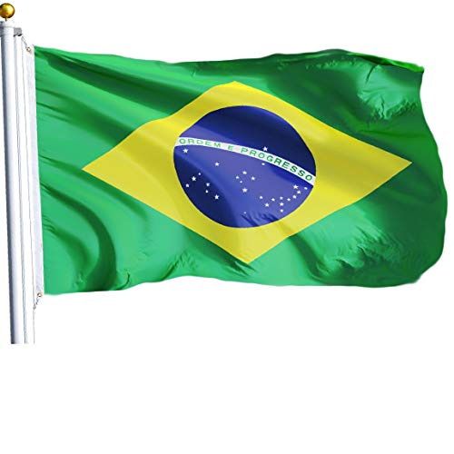 G128 - Brazil (Brazilian) Flag | 3x5 feet | Printed - Vibrant Colors, Brass Grommets, Quality Polyester