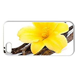Yellow Flower - Case Cover for iPhone 5 and 5S (Flowers Series, Watercolor style, White)