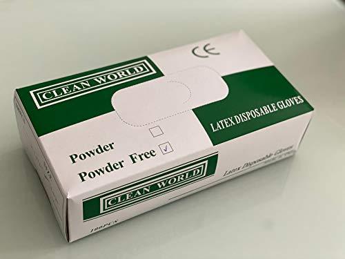 Latex Gloves Powder Free White Pack of 100 (UK stock) – Medium