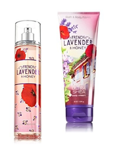 Bath Body Works 2pc Set French Lavender Honey , Mist and Cream
