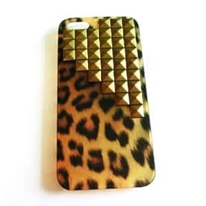 Leopard Print elegante funda para iphone 4 4s funda / iphone 4 4s carcasa / iphone 4 4s cover / iphone 4 4s case con Down- Escaleras Diseño Bronce Pirámide Espárragos y Espigas Decoración