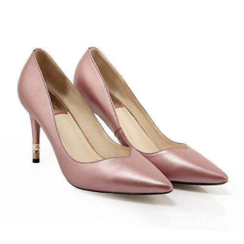 WSS chaussures à talon haut Stiletto talon haut métal perle cuir Western clair marée chaussures chaussures femme