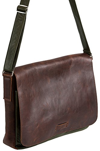 Malachi Distressed Argentine Leather Convertible Messenger (Overland Sheepskin Messenger Bag)