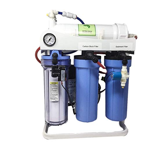 Jett Water Systems Alkaline Hydrogen Water Generator (H2 Blue Drop Verified)-500 GPD High Flow Residential and Light Commercial 6 Stage Tankless RO Water System 1:1 Permeate:Brine Ratio.