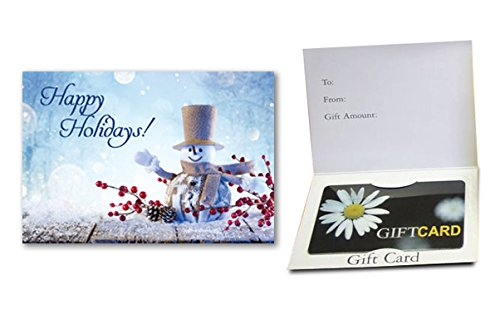 Happy Holidays - (Snowman) Gift Card Holder (100 pack)