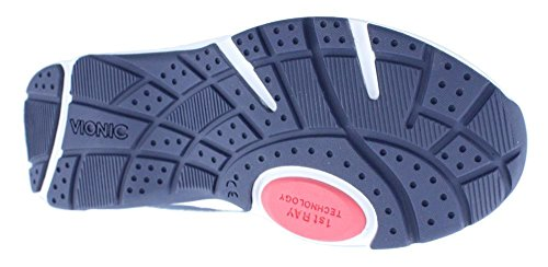 Vionic Kona Womens Orthotic Athletic Shoe Navy/Coral - 9.5 Wide