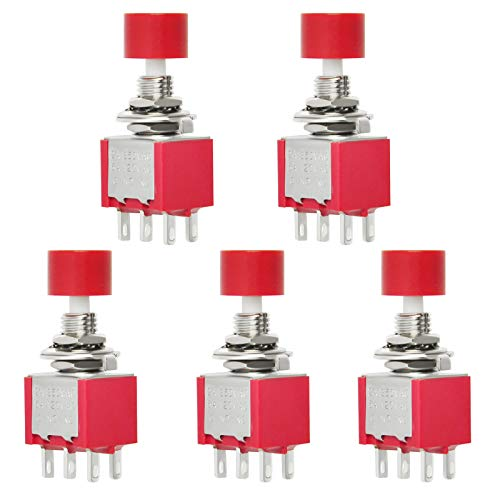 Gikfun 6Pin 6mm Momentary Push Button Switch AC 2A 250V/5A 120V DPDT NO NC for Arduino (Pack of 5pcs) EK1941