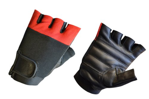 Mens Leather Weightlifting Gym Workout Fitness Gloves Lll-1005 (XX-Large)