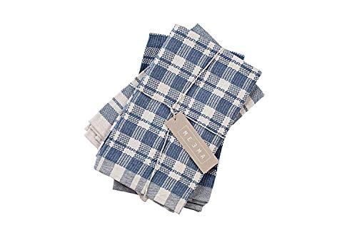 MEEMA Kitchen Towels and Dishcloths Sets | Premium Eco Friendly Kitchen Dish Towels | Super Absorbent Weave | Made With Upcycled Denim And Cotton | Set of 3, 20 x 28 in | Zero Waste Unpaper Towels