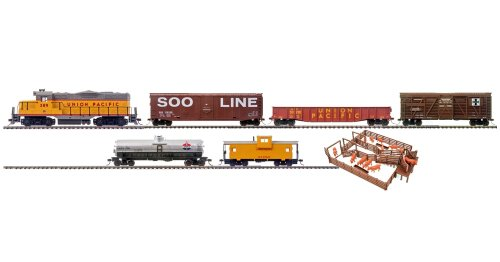 Trainline Big Sky Express Diesel Freight HO Scale Train Set