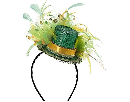 Amscan St. Patrick's Day Feathered Top Hat Headband | Party Accessory -