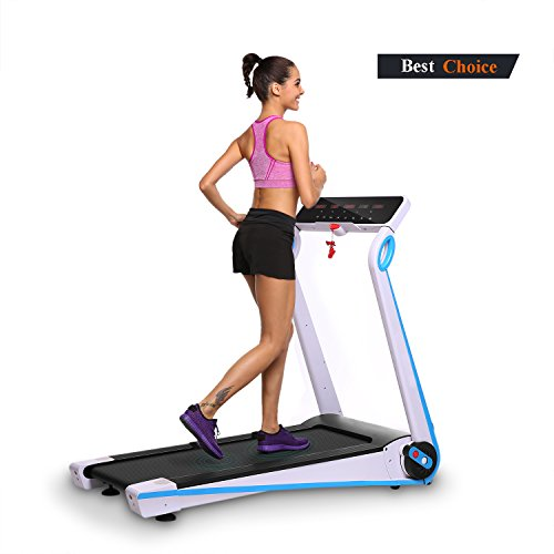 Anfan Folding Electric Treadmill, Fitness Running Machine with Led Display for Cardio Fitness Training (US STOCK)