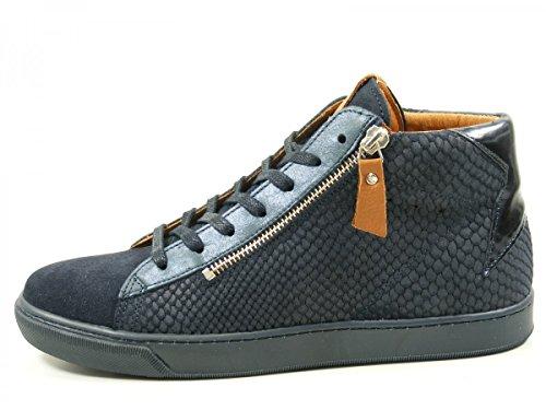SPM 61806501 Satander botas para mujer de cuero Blau