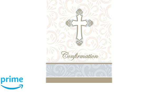 Amazon Com Confirmation Party Supply Invitations 8 Ct Toys Games