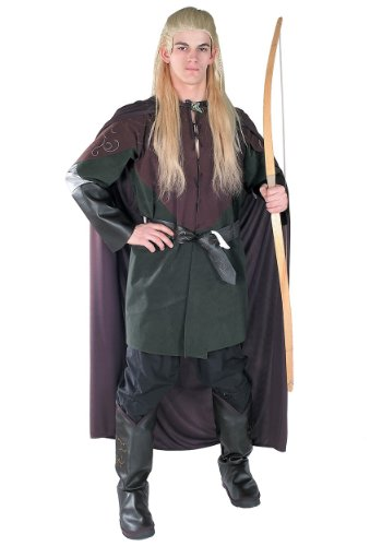 [Rubies Mens Movie Characters Lord Of The Rings Hobbit Legolas Fancy Costume, Standard (up to 44)] (Legolas Halloween Costume)