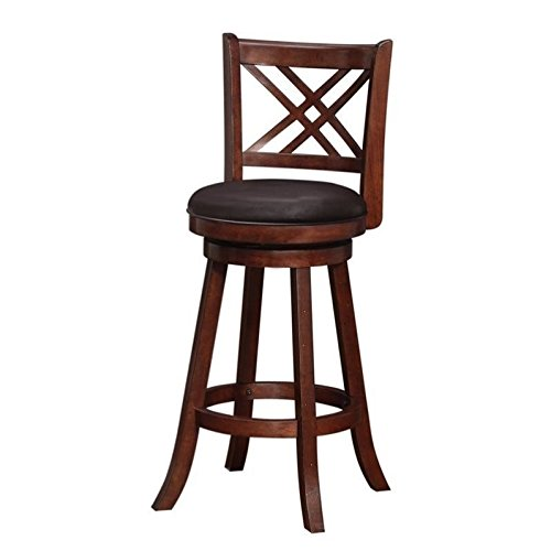 Merlot Legs Merlot Finish - Boraam 65729 Porto Bar Height Swivel Stool, 29-Inch, Hazelnut