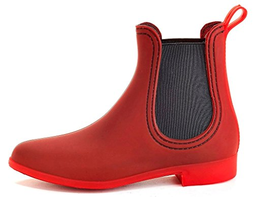 Henry Ferrera Womens Clarity Sky 7 inches (Over The Ankle) Rubber Rainboot & Gardenboot With Comfortable Insole Burgundy Sky-1 BCX8I