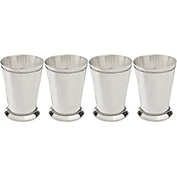 Elegance Silver Silver Plated Beaded Mint Julep Cup, 12 Oz. Set of 4