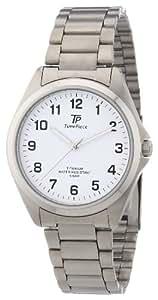 TP Time Piece Titan TPGT-50223-12M - Reloj de cuarzo para hombre, correa de titanio color plateado (agujas luminiscentes)