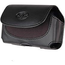 Leather Case Pouch (with Belt Clip) for Nokia 1110/ 1112/ 1600/ 2115i/ 2116i/ 2610/ 2865i/ 6030/ 6275i/ 6235i/ 6236i6822/ 8800/ 8801 - Horizontal Black