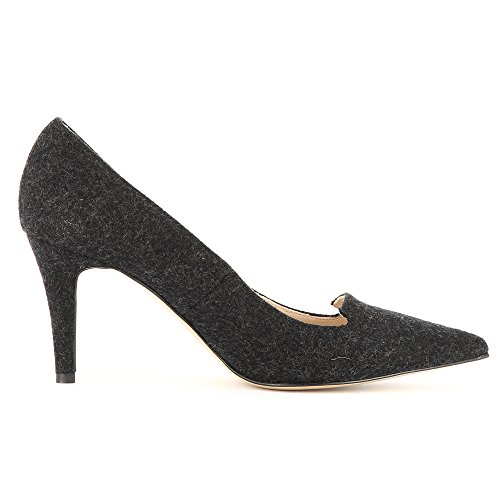 ShoesJESSICA Evita caño Mujer medio negro F64MRq6B