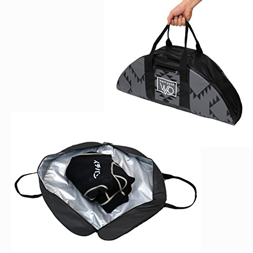 Open Road Goods Wetsuit Changing Mat Bag & Surf Accessory - Full Zipper Closure with Soft Padded Bottom, Dirt Repelling Exterior and Insulation to Keep Your Wetsuit Safe - Also Great as Ski Boot Bag
