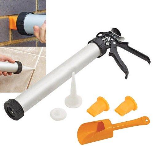 Pistolet applicateur de mortier et ciment pour joints de briques et de carrelage - Qualité professionnelle Elitezotec ©