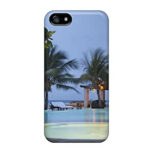 Unique Design For Case Ipod Touch 5 Cover Durable Cases Covers Lovely Pool In The Evening