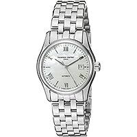 Frederique Constant Women's FC303MPWN1B6B Classics Analog Display Swiss Automatic Silver-Tone Watch