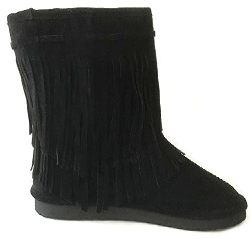 Faux Shoes Boots Shearling W Mini Nancy Bow 18 Black Colors 6 Sheepskin Fur Womens Ytwt0r