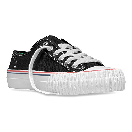 PF Flyers Men's Center Lo Fashion Sneaker, Black Canvas, 8 D US (Pf Flyers Classic Shoes)