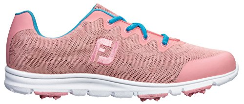 FootJoy Enjoy Spikeless Golf Shoes CLOSEOUT Women Pink Rose Medium 9.5 (Footjoy Golf Shoes Spikeless)