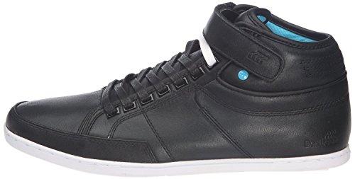 Boxfresh Swich Schwarz Cyan Weiß Herren Leder Half CabSneaker Schuhe Stiefel