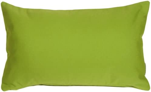 PILLOW D COR Sunbrella Macaw Green 12×19 Outdoor Pillow