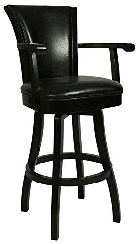 Bon Impacterra QLGL217227865 Glenwood Swivel Stool With Arms, 30u0026quot; Bar  Height, Feher Black/
