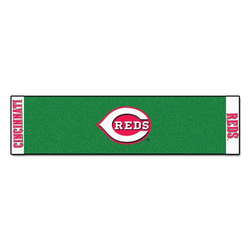FANMATS MLB Cincinnati Reds Nylon Face Putting Green Mat