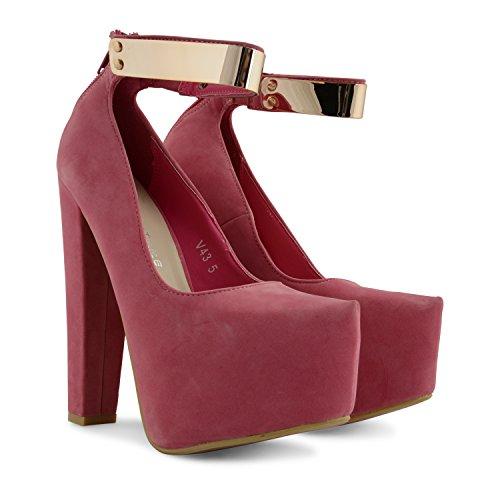 Footwear Sensation - Sandalias de vestir para mujer negro negro Candy Pink