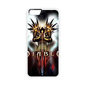 Popular And Durable Designed TPU Case with Diablo Diablo For iPhone 6 4.7 Inch Cell Phone Case White
