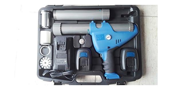Pistola para silicona a bateria 12v profesional con compresor: Amazon.es: Bricolaje y herramientas