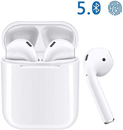 Bluetooth 5.0 Wireless Earbuds Noise Canceling Sports Bluetooth Headphones with Charging Case IPX5 Waterproof Stereo Earphones in-Ear Built-in HD Mic Headsets for iPhone Android Apple Airpods