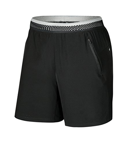 Mens Comfortable Breathable Gym Running Workout Training Shorts Marathon Shorts with Zipper Pockets No Liner - Liner No Shorts Running