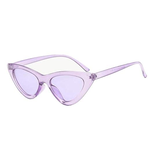 Yangjing-hl Gafas de Sol de Ojo de Gato pequeño Mujer Gafas de Sol ...