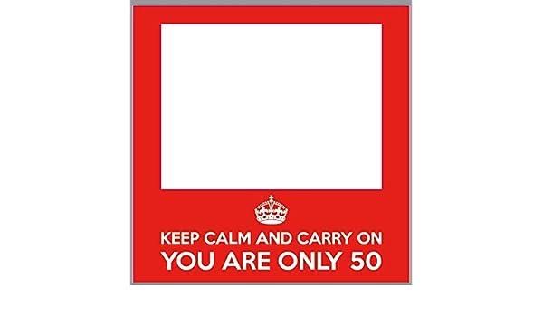 Photocall Cumpleaños Keep Calm 50 años Eventos Fiestas ...