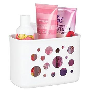 mdesign duschkorb mit saugnapf die ideale duschablage auch als korb frs badezimmer ohne - Duschablage Kunststoff