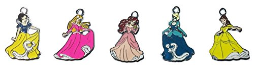 Disney Princesses Set of 5 Enamel 1 1/2 inches Tall Metal Charms (MYO (Disney Charm Necklaces)