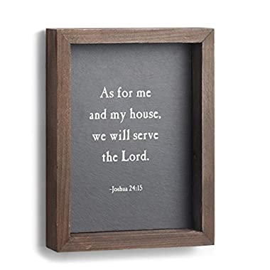 DEMDACO We Will Serve The Lord Wall Art