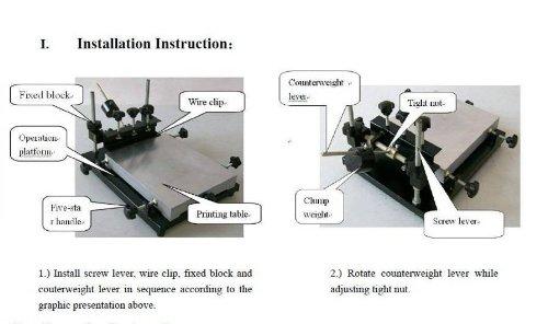 Automatic SMT/SMD Screen PCB Stencil Printer SMT Manual Screen Printer Printing area :320 220mm