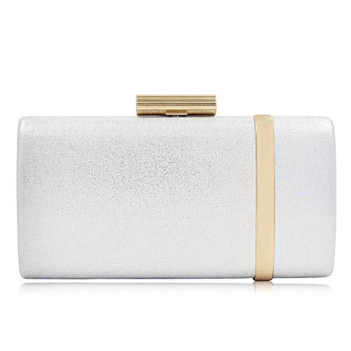Yekajlin Clutch Purse for Women Bridal Party Evening Bags Formal Clutches (Sil)