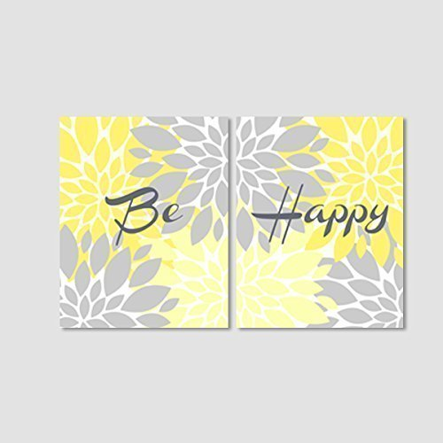 yellow and gray wall pictures - 5