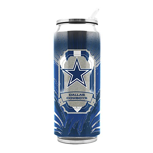 NFL Dallas Cowboys 16oz Double Wall Stainless Steel Thermocan -